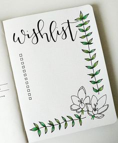 Good morning! Here is a fresh little wishlist I've made in my bullet journal this week, again inspired by @thepigeonletters beautiful botanical line drawings. Hope you are having a lovely day!