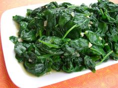 Sauteed Baby Spinach and garlic from Food.com: A terrific side dish or salad. My favorite way to eat spinach