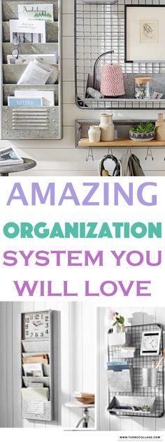 Antique zinc wall organization system ideas | decor and organization ideas | DIY #organize #declutter #ad