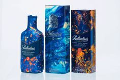 Famous for creating surreal and beautiful album artwork for the likes of Bonobo and The Horrors, Leif Podhajsky has now collaborated with Ballantine's whisky to launch this hypnotically abstract gift pack as part of distillery's new 'Artist Series'.