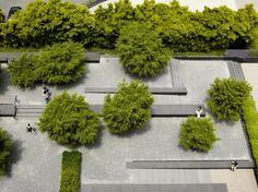 如此极致的景观,不得不服 Urban Architecture, Garden Architecture, Modern Landscaping, Backyard Landscaping, Urban Landscape, Landscape Design, Landscape Drawings, Plant Design, Garden Design