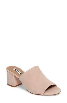 ead0ead5f05b Freda slide by Halogen in soft pink suede via Nordstrom