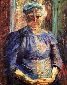 La Madre (1910) Umberto Boccioni Picasso, Umberto Boccioni, Italian Futurism, Old Folks, Famous Words, Italian Painters, Italian Art, Weird Art, Artist Art