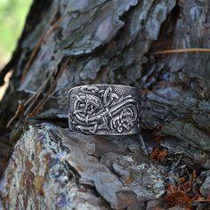 Celtic Dragons ring. Jörmungandr ring. Norse Viking by RuyaN