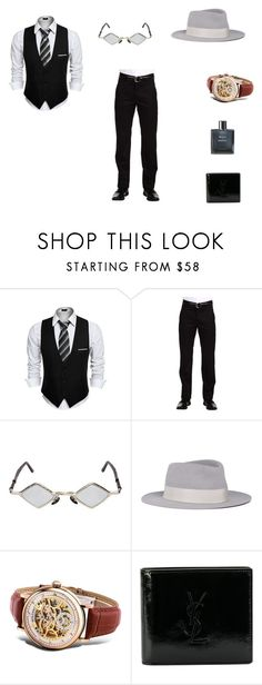 """D _ S"" by denissalihovic123 ❤ liked on Polyvore featuring Dockers, Kuboraum, Maison Michel, Yves Saint Laurent, Chanel, men's fashion and menswear"