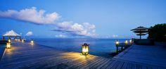 Banyan Tree Madivaru - North Ari, Maldives Atolls, Maldives - Luxury Hotel Vacation from Classic Vacations Seychelles Islands, Beach Haven, Maldives Resort, Luxury Holidays, Archipelago, Marina Bay Sands, Ocean, Clouds, Building