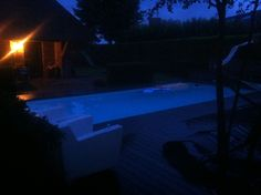 Lightning pool in da backyard