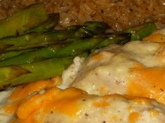 Baked Sour Cream Chicken Try it with golden mushroom soup instead of cream of chicken. It was great but very rich. Next time I am going to use chicken strips instead of the whole breast