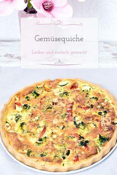 Diese absolut leckere Gemüsequiche ist super leicht und einfach zu zaubern. #Vegetarisch #Quiche #Gemüse #Rezept
