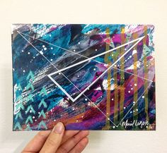 Mariel Lazo-Duran   Abstract with acrylic ink, washi tape, chalk pastel, and uniball pen on multimedia paper