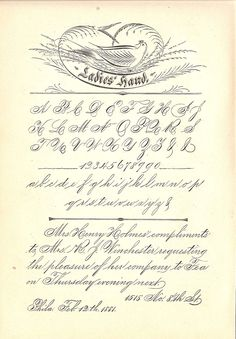 A type of Spencerian calligraphy, known for being slanted. Would look nice for something formal. David