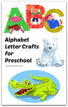 An easy to use index of fun, tried-and-true, alphabet letter preschool crafts and more! These projects are perfect for kids ages 3 to 7 years old. Alphabet Letter Crafts, Preschool Letters, Craft Activities For Kids, Preschool Crafts, Preschool Activities, Crafts For Kids, Number Crafts, Really Fun Games, Letter Bag
