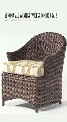 Sonoma Dining Chair In an upscale version of barrel seating designs, the Sonoma… Wicker Dining Chairs, Dining Tables, Outdoor Dining, Cane Furniture, Wicker Furniture, Furniture Design, Fashion Lookbook, Women's Fashion, Paper Weaving