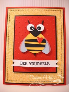 Stampin' Up! Punch Art Diana Gibbs Valentine Bee
