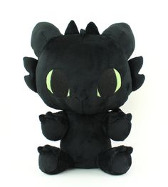 Toothless plush / How to Make Your Dragon by TeacupLion