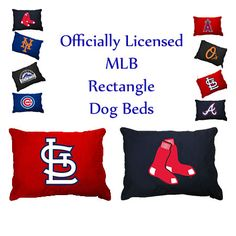 Major League Baseball Officially Licensed Dog Beds with team logo