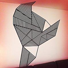 uxmash's photo: Masking tape wall decoration