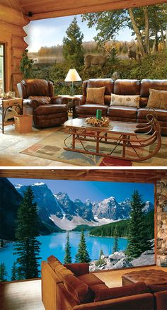 These wall murals will give you a fantastic, floor-to-ceiling view.