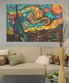 Another great find on #zulily! Dean Russo Starry Night Wrapped Canvas #zulilyfinds