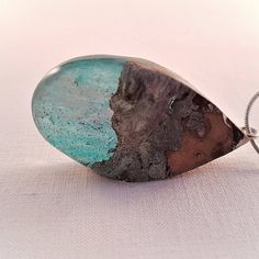 Epoxy, Resin Jewelry, Piercing, Hanger, Pendants, Pendant Necklace, Celestial, Wood, Resin
