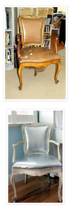 Frugal Life Project: DIY: Makeover Leather Chair with Paint!