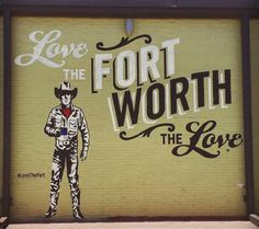 Brewed Worth the Love Mural Fort Worth - Side of Brewed at 801 W Magnolia Ave. Fort Worth Restaurants, Winter Treats, Fort Worth Texas, Texas Travel, Texas Hill Country, Strike A Pose, Local Artists, Staycation, Hot Chocolate