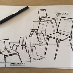 Some quick sketches #chair #furniture #furnituredesign #Design #designers #product #photoshop ...