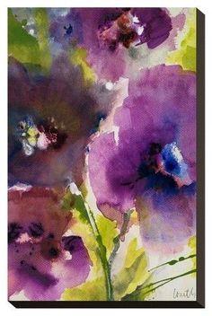 Art.com Violetti I By Lanie Loreth Stretched Wall Canvas Print