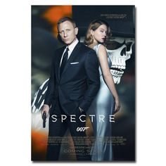 """James Bond 24   007 Spectre 2015 Movie Art Silk Fabric Poster Print 12x18 24x36"""" Wall Pictures For Living Room Decor 017-in Painting & Calligraphy from Home & Garden on Aliexpress.com 