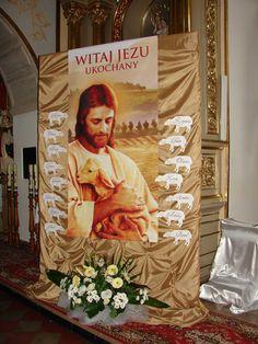 First Holy Communion, Corpus Christi, Psp, Holy Spirit, Sunday School, Holi, Santa, Table Decorations, Painting