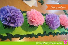 Leaf Table Runner for Tinkerbell Party - decorate with flower centerpieces