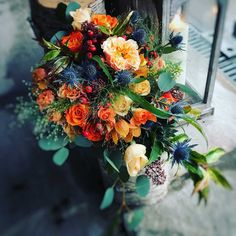 For a myriad of goregous bouquet ideas to help you on your wedding planning journey. At Flowers Et Al I design for & with the Bride. Orange Wedding Flowers, Flower Bouquet Wedding, Floral Wedding, Bush Wedding, Camp Wedding, Wedding Ideas, Beautiful Flower Arrangements, Wedding Flower Arrangements, Wedding Centerpieces