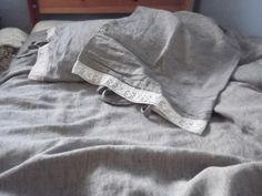 Lovely Medium/Heavy Weight Striped Linen Duvet by LinenFactory