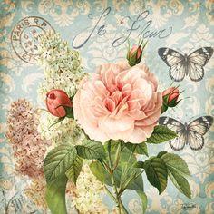 RB5072TS <br> Vintage Floral Damask II <br> 18x18