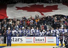 O Canada on Boxing Day at Air Canada Centre. Canada Tourism, Air Canada Centre, O Canada, Best Fan, Toronto Maple Leafs, Hockey, Happy Birthday, Boxing, Fans