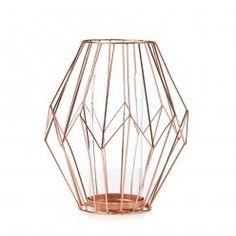 Home Republic Diamond Wire Lantern Copper, lantern, copper homewares