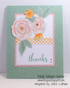 teojax: Thanks card with cut out flowers, Gimme Some Sugar, Close to My Heart, CTMH, Adventure Ribbon Pack