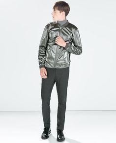 Image 1 of SHINY GREY JACKET from Zara
