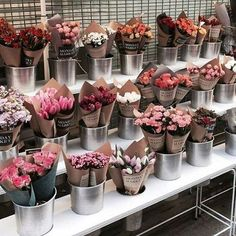 One of the reasons I like visiting florist shop - flowers r so beautiful. Flower Shop Decor, Flower Shop Design, Flower Cafe, Flower Truck, Flower Shop Interiors, Flower Boutique, Luxury Flowers, Flower Stands, Flower Market