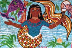 Mermaid art by Mireille Delice