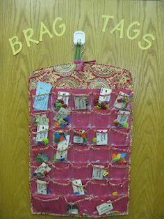 Brag Tags- positive reinforcement in class and school wide- cool!