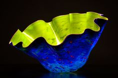 Dale Chihuly | Citronelle Macchia with Lavender Lip Wrap 2012
