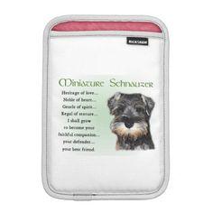 #Miniature Schnauzer Puppy Sleeve For iPad Mini - #miniature #schnauzer #puppy #schnauzers #dog #dogs #pet #pets #cute #miniatureschnauzer