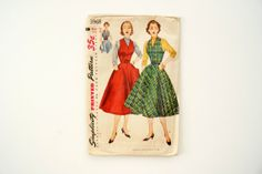 Vintage 1950s Simplicity Pattern 3968 Womens Jumper, Blouse, Dress by ThirdShift - a fun mid century wardrobe is yours for the making!  #vintagesewing #thirdshift3 #thirdshiftvintage