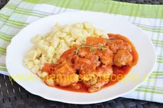 Macaroni And Cheese, Shrimp, Meat, Ethnic Recipes, Food, Red Peppers, Mac And Cheese, Essen, Meals