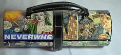 Neverwhere Comic Book Upcycled Clutch Handbag Jewelry Case by CurbedEarth #diy #comicbook #upcycledjewelry #bookclutch
