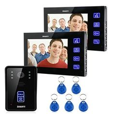 Ennio 7 Color Monitor Touch Key Video Door Phone Doorbell Intercom System Ir Camera 1v2 >>> Read more reviews of the product by visiting the link on the image-affiliate link. #HomeSecurityCameras