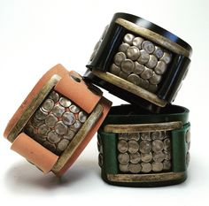 Joxasa Saxon leather cuffs.
