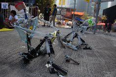 Recycled art at the Hong Kong Umbrella Movement protest