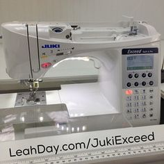 Learn more about the Juki Exceed one of Leah Day's favorite sewing machines that has many awesome features for sewing, patchwork, and machine quilting. Sewing Machine Quilting, Sewing Machine Reviews, Longarm Quilting, Machine Embroidery, Modern Sewing Machines, Juki, Love Sewing, Sewing Hacks, Sewing Ideas